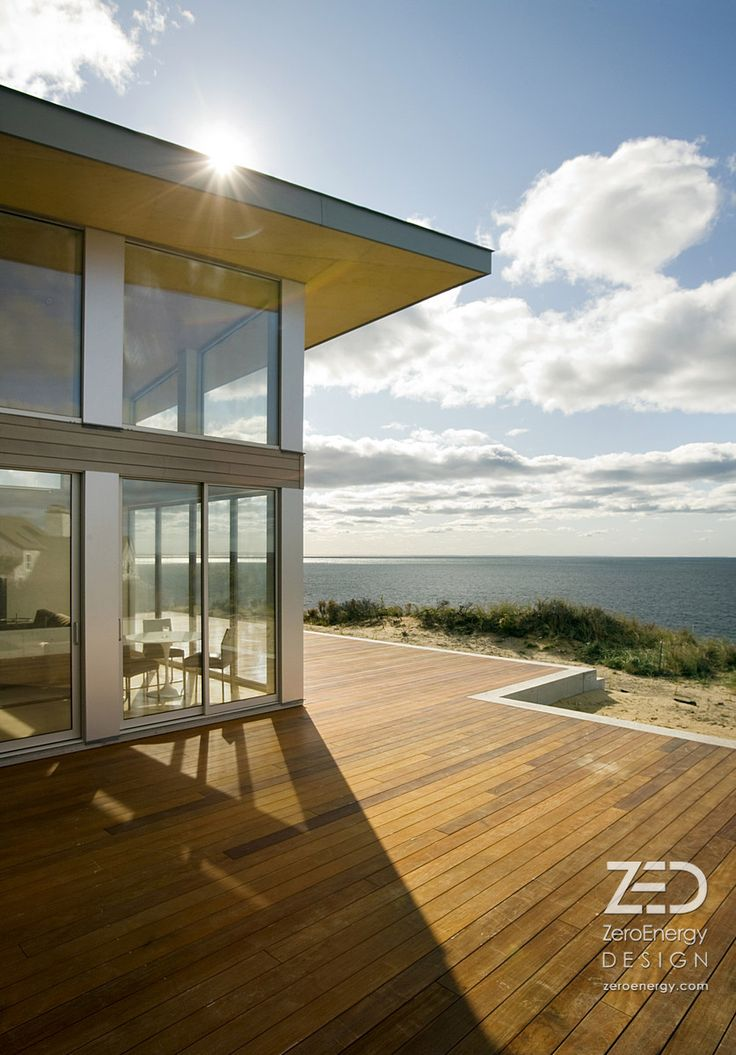 The ocean is your living room. Modern beach house. http://zeroenergy.com/supersize/slideshow/truro.html
