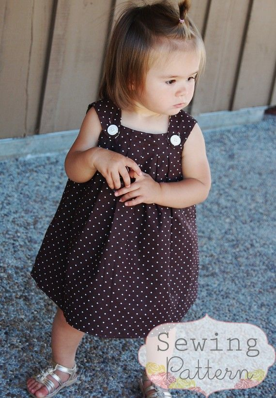 Harper Reversible Dress (Sizes 6/9 months to 3T) Sewing E-Pattern and Tutorial