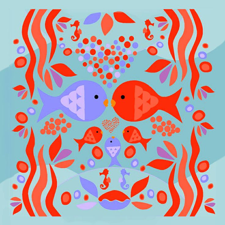 #illustrazione #chiarafassari #fishes #red #sea