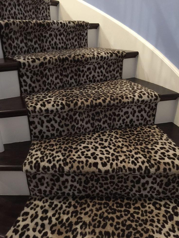 44 best stair runners images on pinterest staircase for Leopard print carpet stair runner