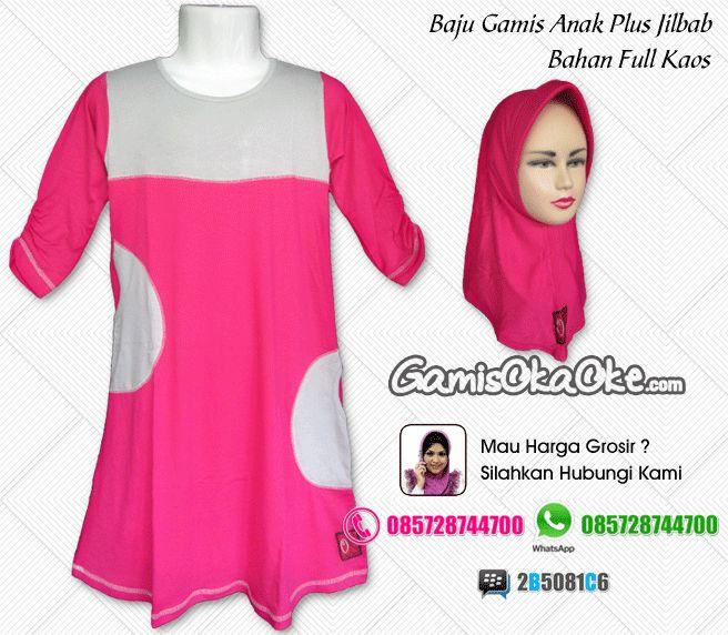 Jual online baju muslim anak model gamis terbaru dengan bahan kaos dipadukan dengan kain katun berkualitas bagus dan harga murah. Untuk pemesanan silahkan hubungi kontak yang tertera di gambar atau bisa juga kunjungi toko online kami di http://www.gamisokaoke.com