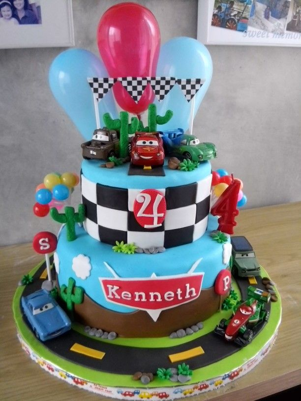 Cars Birthday Cake by Delines Cake