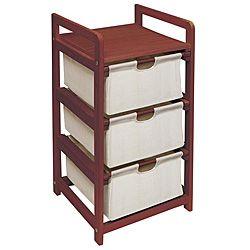Cherry Three Drawer Hamper and Storage Unit   Overstock.com Shopping - Big Discounts on Badger Basket Hampers