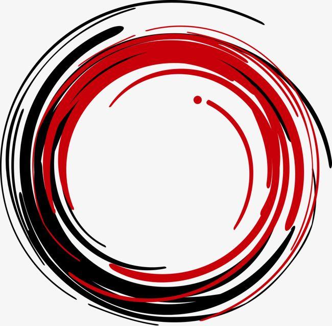 Vector Circulo Rojo Tinta Diseno Creativo Del Cartel Logotipo Artistico Tatuaje Brujula