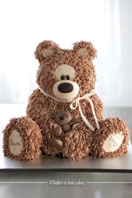 48 Best Teddy Bear Cake Images On Pinterest Teddy Bear