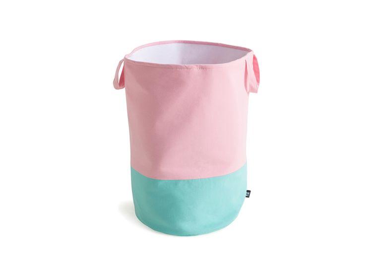 Mint/Pink Storage Basket