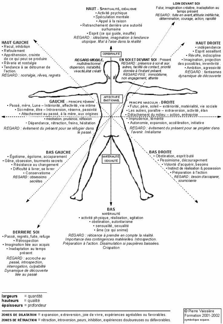 Les directions par rapport au corps et leur significations