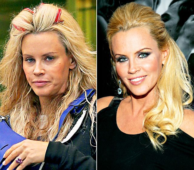 Jenny McCarthy - LEFT: leaving her hotel in New York City on May 9, 2013 - RIGHT: showing her support at a Hotel Durex charity event in New York City on April 2, 2013