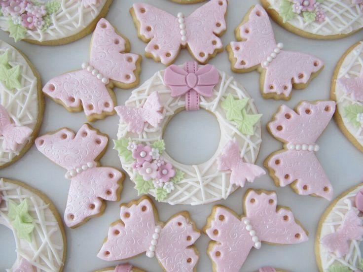 Spring wreath cookies