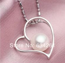 AAA 2013 Fashion white pink purple 9-9.5mm Freshwater pearls 925 sterling silver necklace,pearls jewelry,BEST GIFT