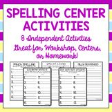 Spelling Center Worksheets to be Used With Any Spelling Word List!