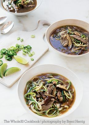 The Whole30 Cookbook Preview: Asian Beef Zoodle Soup   The Whole30® Program