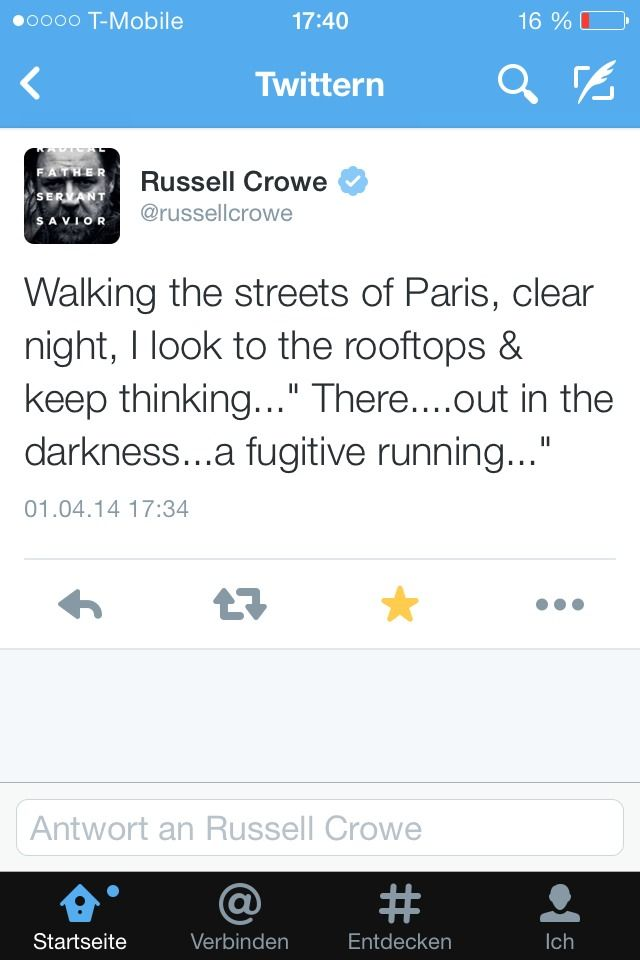 Well this is what happens when one of the stars of les mis visits Paris