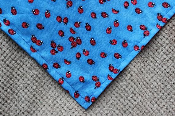 Red and Blue Ladybug Dog Bandana by MarysBigSheep on Etsy, $12.00