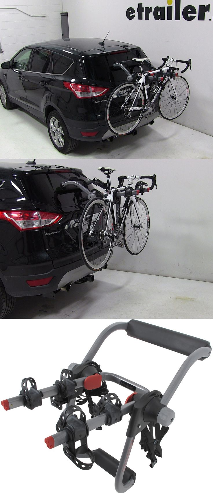 The Yakima KingJoe Pro 2 Bike Rack - Folding Arms - compatible with the Ford Escape and is perfect for hatchbacks, sedans, SUVs and features a six strap system. Get your bikes to and from the biking destination safely and securely!