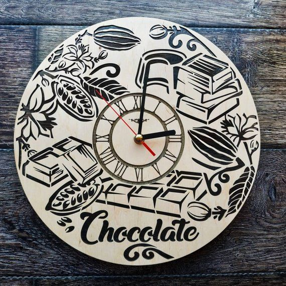 Chocolate Candy Sweet Wall Art Clock