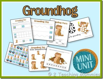 YAY!! I've been looking for groundhog's day printables/activities for days. At least I found it in time. :)