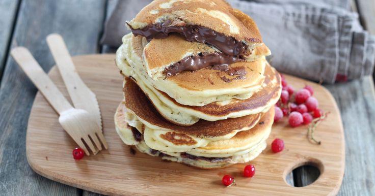 Pancakes fourrés au Nutella -