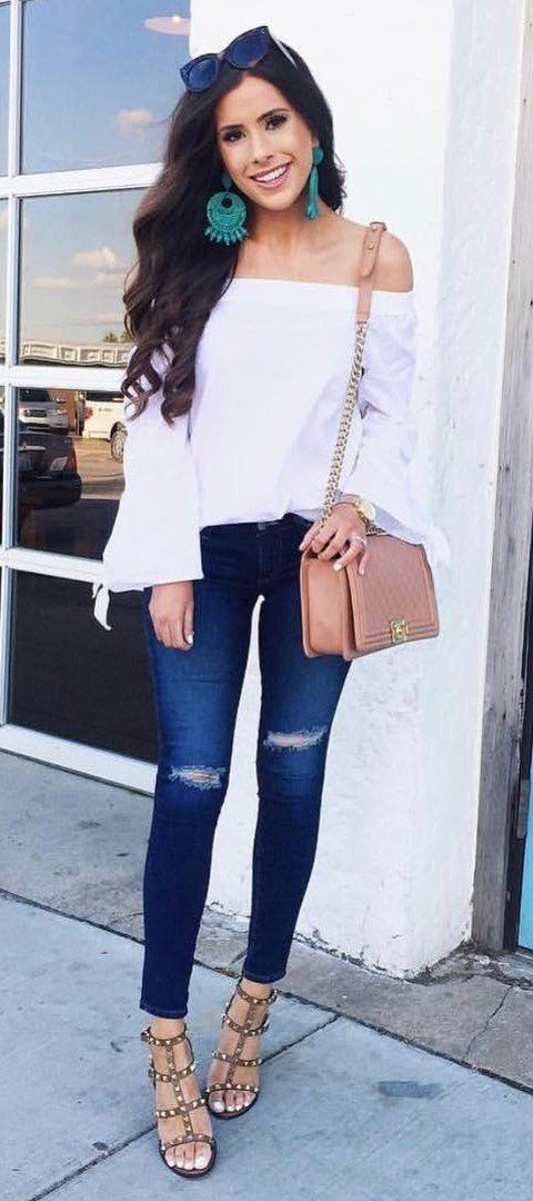 summer fashion trends / off-shoulder + rips