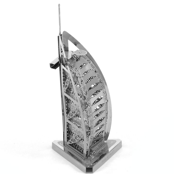 Burj Al Arab Hotel Architecture Metal Model //Price: $15.95 & FREE Shipping //     #3DMetaltoys #Metal #Puzzle #3D #3DPuzzle #metalpuzzle #metalpuzzles #3dmetalpuzzles