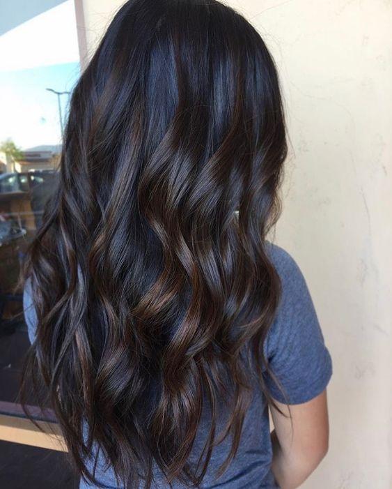 Best 25  Dark hair ideas on Pinterest  Long dark hair, Dark brown and Long brown hair