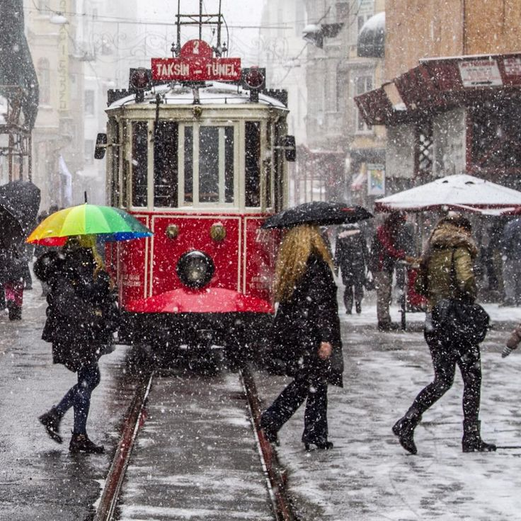 Winter  in İstiklal Street, İstanbul,Turkey ☃❄️☃ by Onder Turkmen (onthere) #istanbul
