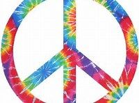 Peace Sign Cornhole Board Decals