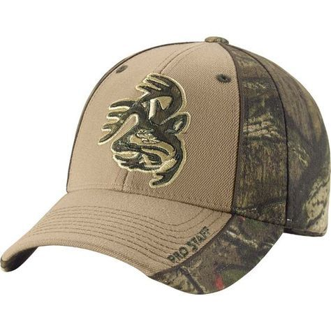 Men's Mossy Oak Camo Trimmed Pro Staff Cap - Mossy Oak® Infinity Camo comes to our ever-popular Pro Staff cap in stretch fit.  Features high definition Legendary Signature Buck appliqué and embroidery.  Built for us exclusively by Zephyr Caps for top quality construction and superior comfort.