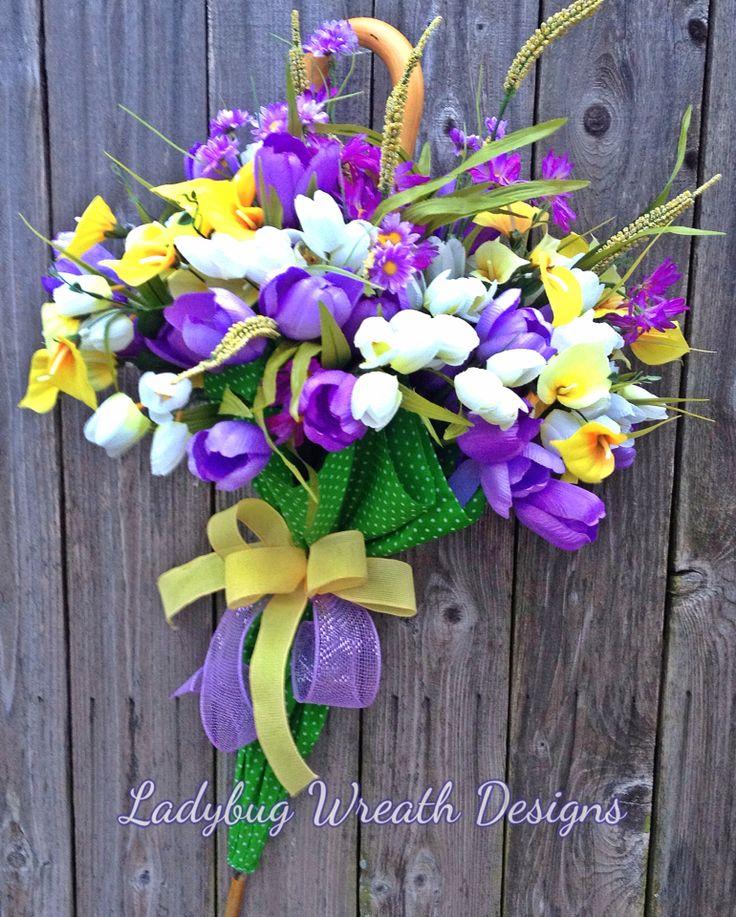 Spring Umbrella Wreath by Ladybug Wreath Designs