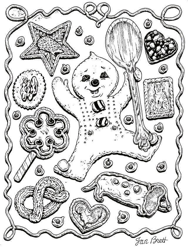Jan Brett Gingerbread Baby Coloring Page