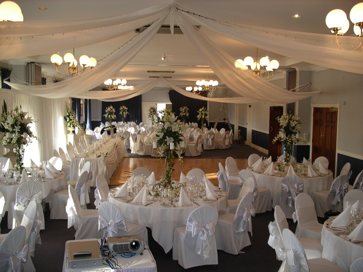 #ceilingdrapery #fairylights #weddingreceptionideas