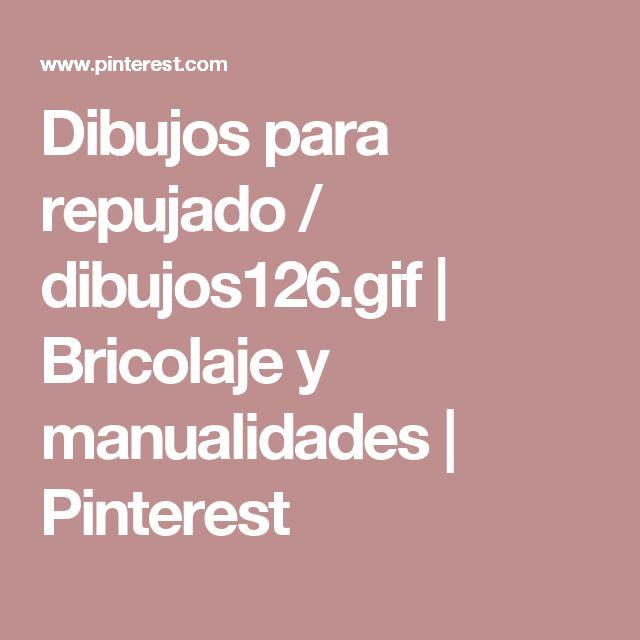 Dibujos para repujado / dibujos126.gif | Bricolaje y manualidades | Pinterest