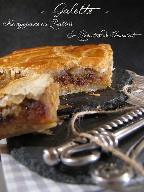 J'en reprendrai bien un bout...: Galette Frangipane au Praliné & Pépites de Chocolat
