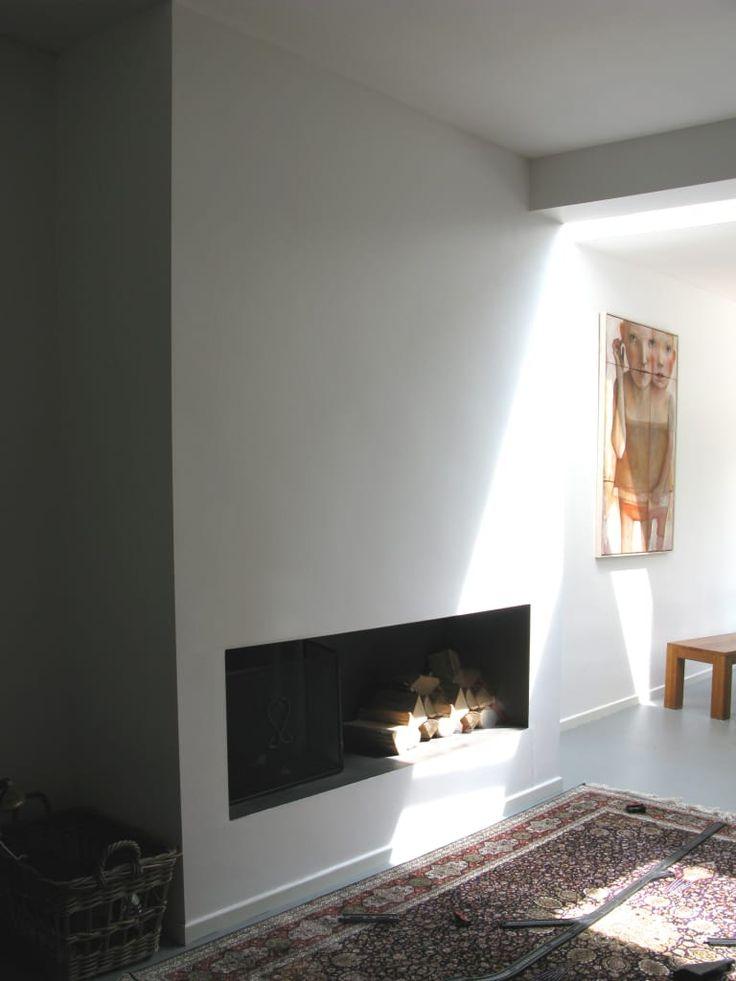 17 beste idee n over openhaard woonkamers op pinterest witte open haard schoorsteenmantel en - Fotos van moderne woonkamer ...