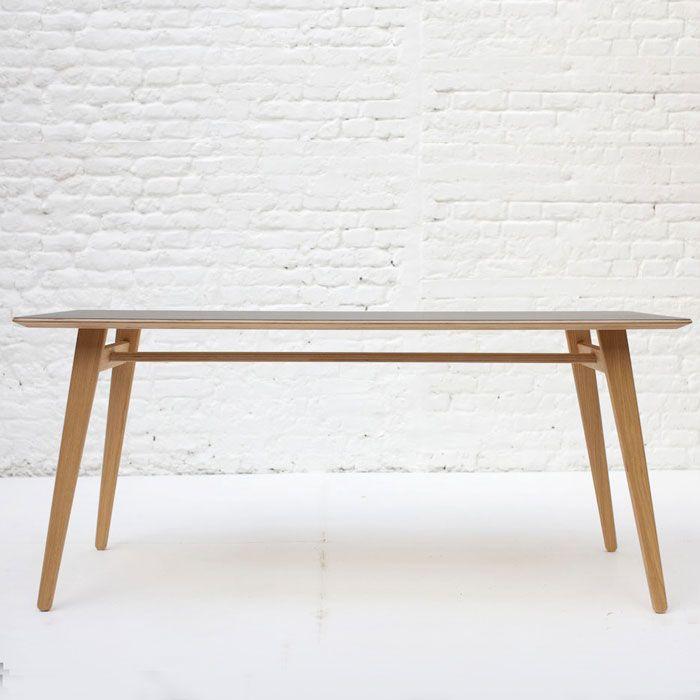 Angle Table Medium Oak With Lino Top, £380, Unto This Last