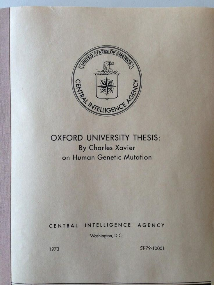 Oxford University Thesis on Human Genetic Mutation by Charles Xavier