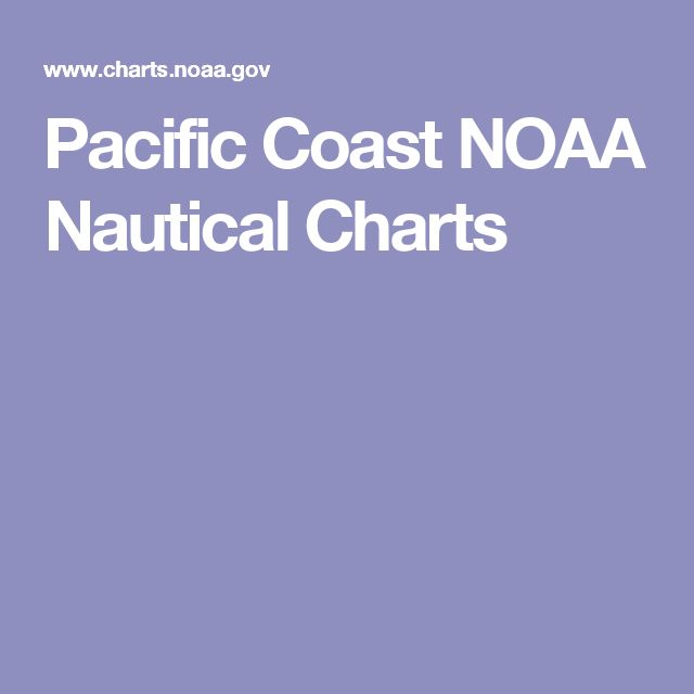 Pacific Coast NOAA Nautical Charts