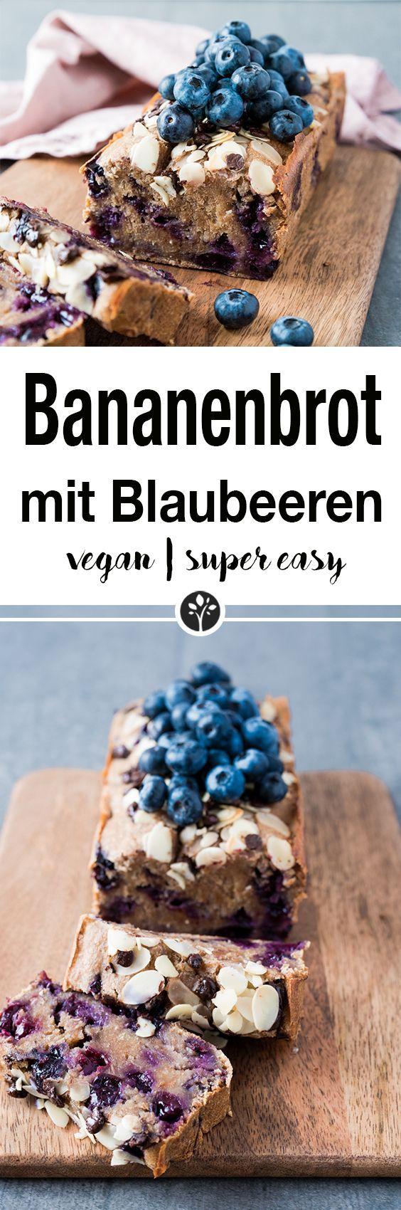Bananenbrot mit Blaubeeren