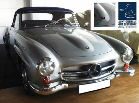 Mercedes 190 SL / 1962 - Many of these cars come back from US (esp. California) to Europe, often with less rust than Eurpean cars, but with interior problems because of the heat.