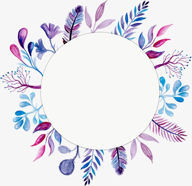 Blue Purple Flower Title Box Blue Vector Flower Vector Box