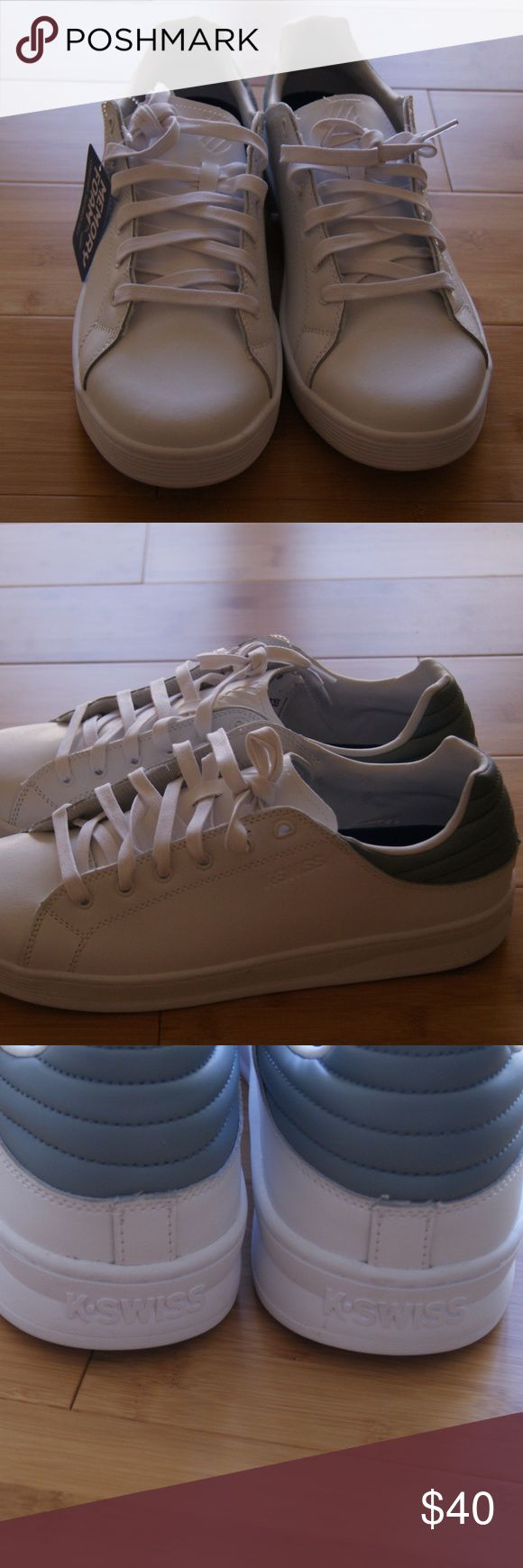 K-WISS memory foam men shoes size 12 This pair is a brand new with tag.  It doesn't come with the original box, but it has been in a box ever since purchased. K-Swiss Shoes Sneakers #MemoryFoamStyles