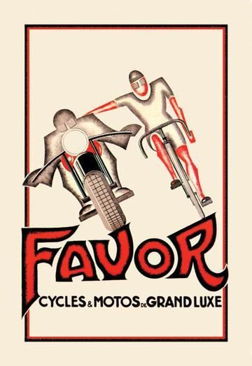 Favor Cycles and Motos de Grand Luxe 12x18 Giclee on canvas