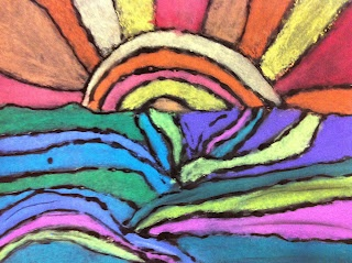 Chumley/Scobey Art Room: 3rd Grade: Ted Harrison Landscape with Chalk Pastels