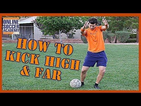 How to Kick a Soccer Ball High and Far *8 Key Points* - Online Soccer Academy - YouTube