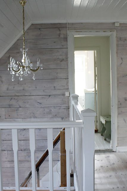 Lighting Basement Washroom Stairs: Love The All White Ceiling And Trim With White Washed
