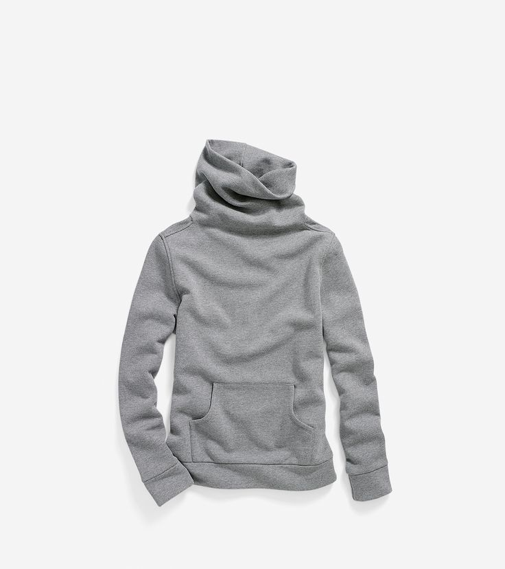 Discover women's pinch long sleeve cowl neck sweatshirt in heather grey at Cole  Haan and shop our full collection of women's apparel.