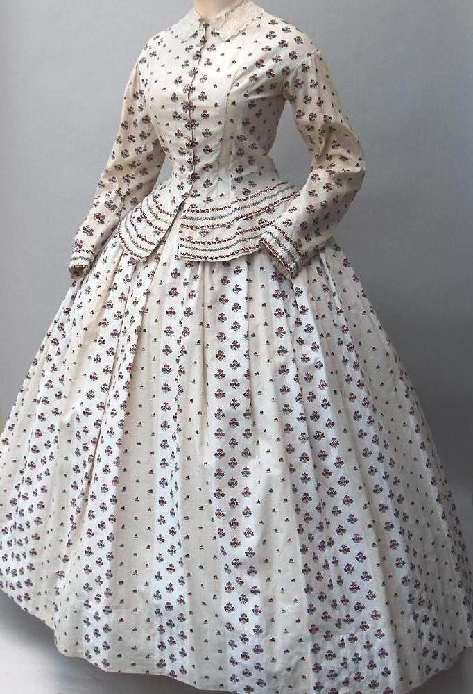 Found on eBay. Labeled 1850's Walking Dress