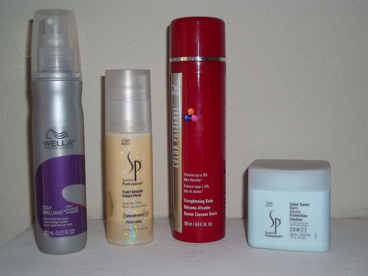 Wella SP Professional Hair Products STRAIGHTEN, SHINE, PROTECT, TREAT 4 Products #Wella