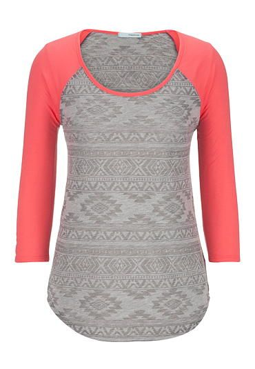 ethnic print baseball tee (original price, $26) available at #Maurices
