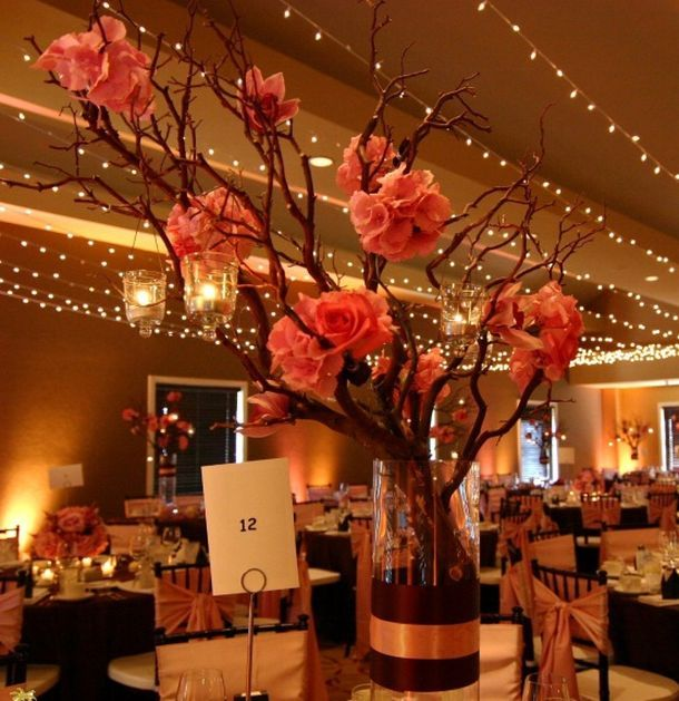 Best branch wedding centerpieces ideas on pinterest